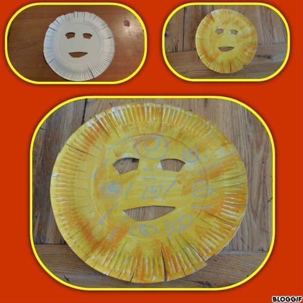 Activitees avec assiette en carton - Peinture qui masque les imperfections ...
