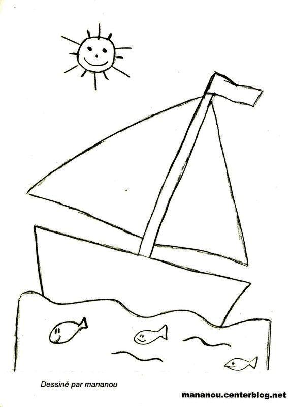 Coloriage bateau - Dessin bateau enfant ...