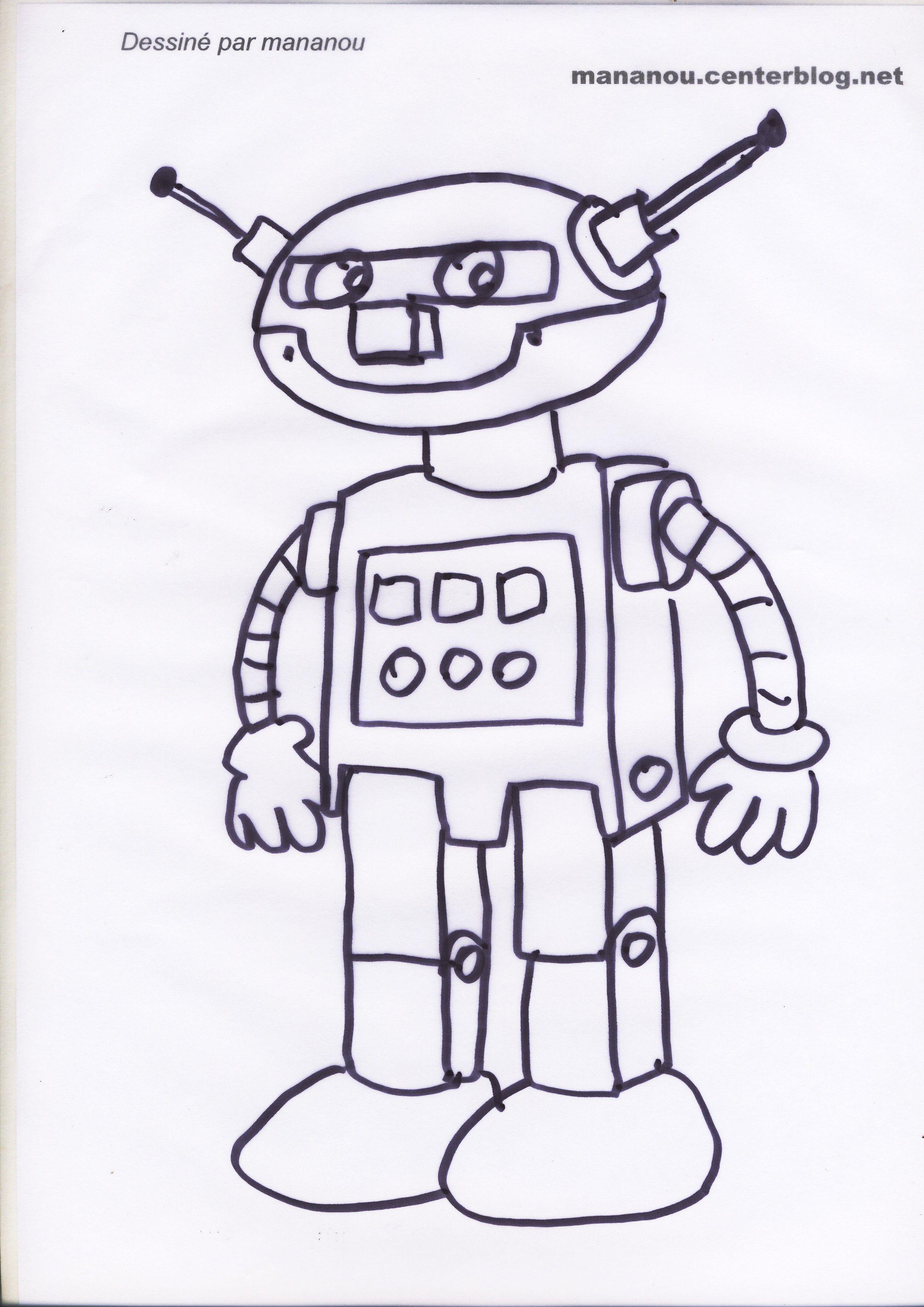 Coloriage Robot Fille.Coloriage De Petits Garcon Et Filles